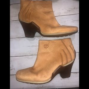 Timberland Vintage Suede Ankle Booties 8.5